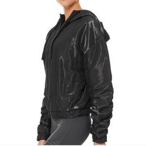 ALO Yoga Black Shimmer Zip Jacket